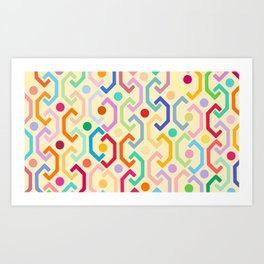 Ethnic Pattern (by day) Art Print