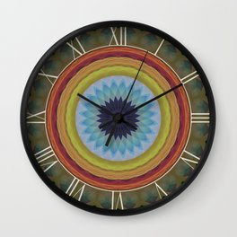 Mandala with blue flower Wall Clock
