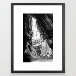 The Stranger from America Framed Art Print