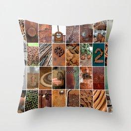 Rust in Art Throw Pillow