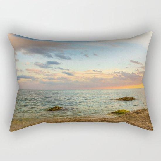 Gentle Sunset Rectangular Pillow