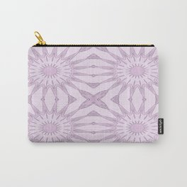 Lavender Pinwheel Flowers Carry-All Pouch