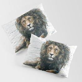 Lion watercolor painting Pillow Sham