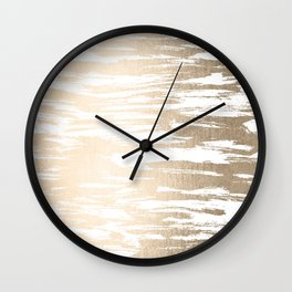 White Gold Sands Paintbrush Wall Clock