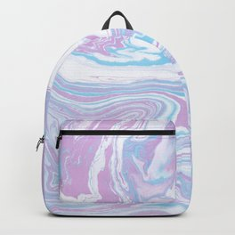 Iridescent marble watercolor Backpack