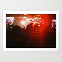 concert Art Prints featuring concert by Alexandra Bauer