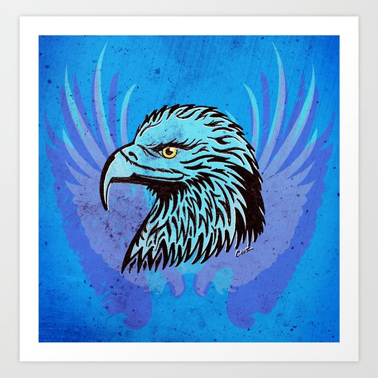 Wings Like Eagles Art Print