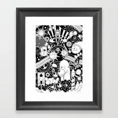 Clutch (Black & White version) Framed Art Print
