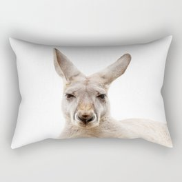 Kangaroo Face Rectangular Pillow