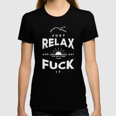 Relax (2017 Refix) Black Womens Fitted Tee SMALL