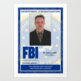 Lyle Goodwin FBI Nightmares badge 2 Art Print