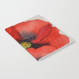 Watercolour Poppies Notebook