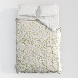 Secret places III - handmade green map Comforters