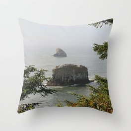 Beautiful View Over The Sea Throw Pillow
