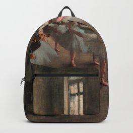 Classical Masterpiece 'The Ballet Rehearsal' by Edgar Degas Backpack