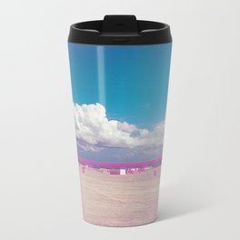 Pink Miami Beach Metal Travel Mug