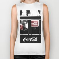 coca cola Biker Tanks featuring coca cola by Crimson Crazed