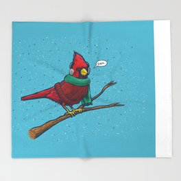 Annoyed IL Birds: The Cardinal Throw Blanket