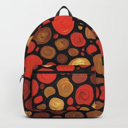 Lovers -Warm Earthy Mosaic Painting by Labor of Love artist Sharon Cummings. Backpack