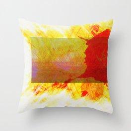 Tubular Red Throw Pillow