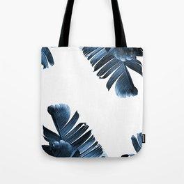 Blue banana leaves Tote Bag