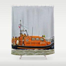 Hoylake Lifeboat (Digital Art) Shower Curtain