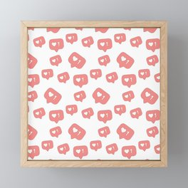 Like time social media pattern Framed Mini Art Print
