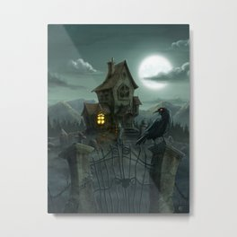 Once upon a midnight dreary Metal Print