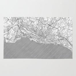 Lausanne Map Line Rug