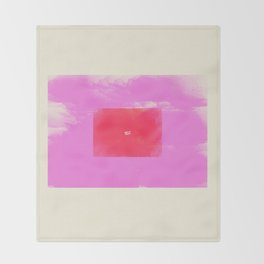 Watercolor Minimalism 1 #minimal #design #kirovair #decor #buyart #pink #design #elements Throw Blanket