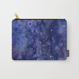 Night Sky Galaxy Nebula Stars Watercolor Space Texture Carry-All Pouch