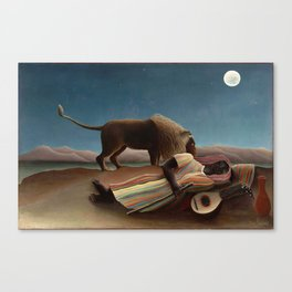 Henri Rousseau - The Sleeping Gypsy Canvas Print