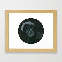 The Wolf Man on vinyl record print Framed Art Print