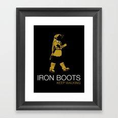 Iron Boots Framed Art Print