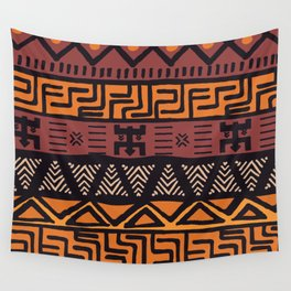 Tribal ethnic geometric pattern 021 Wall Tapestry