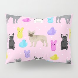 French Bulldog peeps marshmallow spring easter treats frenchie must haves dog breeds Pillow Sham