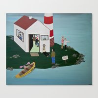 lighthouse Canvas Prints featuring Lighthouse by Angela Dalinger