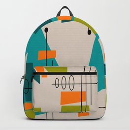 Mid-Century Modern Abstract Backpack