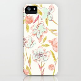 Dream in pink flowers iPhone Case