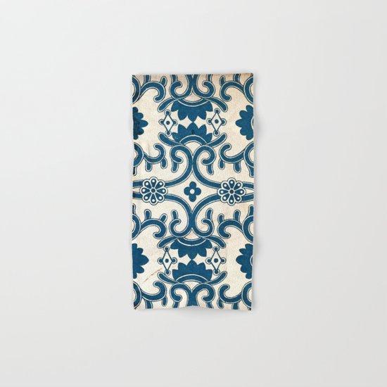 Blue Oriental Vintage Tile 02 Hand & Bath Towel