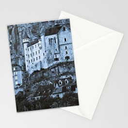Medieval castle in the pilgrimage town of Rocamadour Stationery Cards