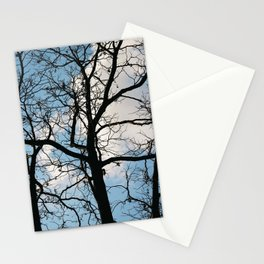 naked tree blue Stationery Cards