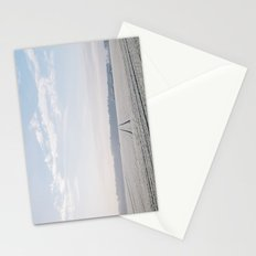 Rural scene covered in a thick hoar frost. Norfolk, UK. Stationery Cards