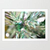 snowflake Art Prints featuring snowflake by Lalina ChristmasShop