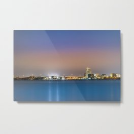 Downtown Clearwater at Night Metal Print