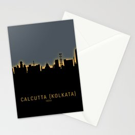Kolkata Calcutta India Skyline Stationery Cards