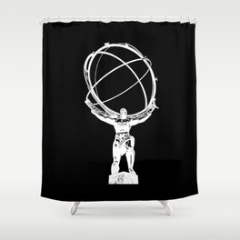 Atlas // Black Shower Curtain