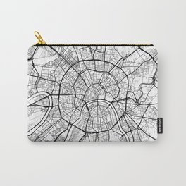 Moscow Map White Carry-All Pouch