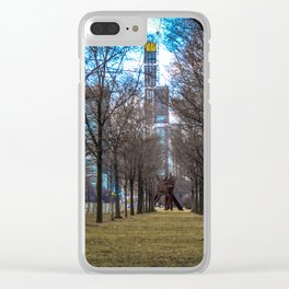 Downtown Windy City: Through The Trees Clear iPhone Case
