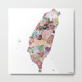 Taiwan map Metal Print